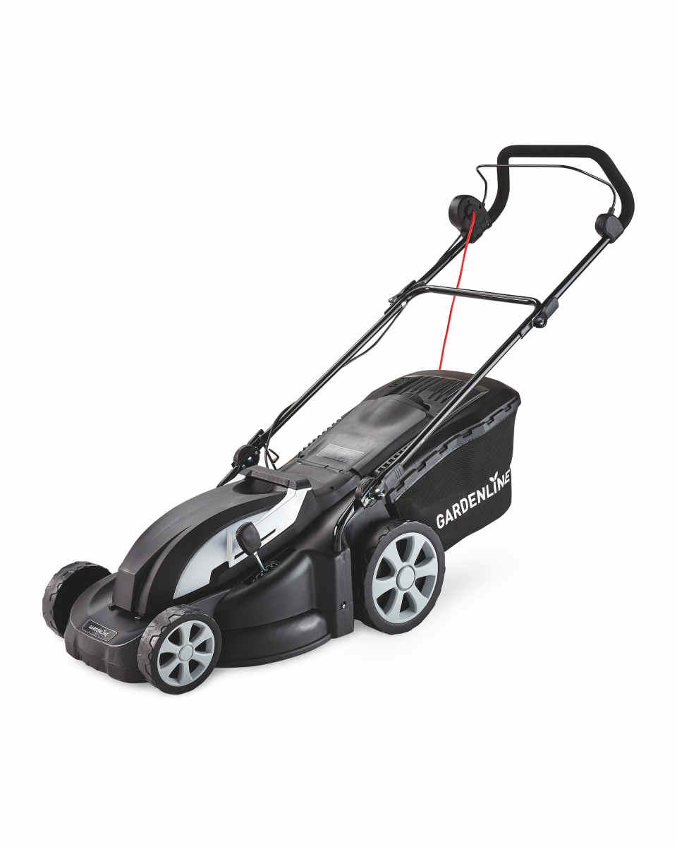ALDI Gardenline Electric Lawn Mower 43cm 1800w for £79.99