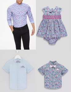 Matalan have launched a new matching Father-Daughter / Father-Son fashion range prices from £7.00