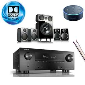 Denon AVRX3500H AV Receiver + Wharfedale DX-2 Speakers + 25m Cable & FREE Echo Dot when paying via Amazon Pay £869.00 @ electricshop