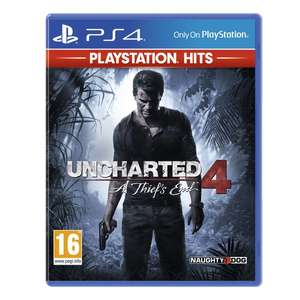 Uncharted 4: A Thief's End - PlayStation Hits (PS4) - £10.85 delivered @ Base