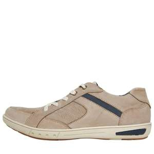 Mad Wax mens leather lace up casual shoes, dark beige £16.99 @ M&M (+£4.99 del)