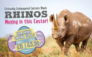 Twycross Zoo Tickets for Easter Holidays £10 adult instead of £21.95 / £5 child instead of £16.95 Valid 6th - 28th April @ Twycross Zoo