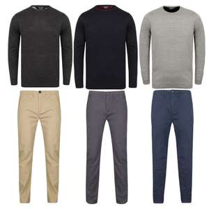 Men's Chino's and Jumper Set for £20 + Free delivery with code @ Tokyo Laundry
