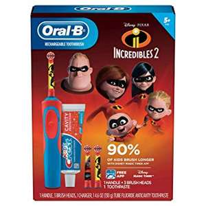 Braun Oral B RECHARCHABLE + Kids Electric Incredibles Toothbrush, Now £14 Was £35 @ Tesco