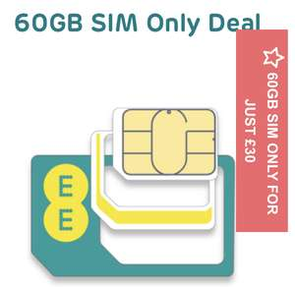 EE 12m sim 60GB Unlimiteds (£70 TCB =£290/£24.17pm) £30pm x 12 Months (£360) @ EE