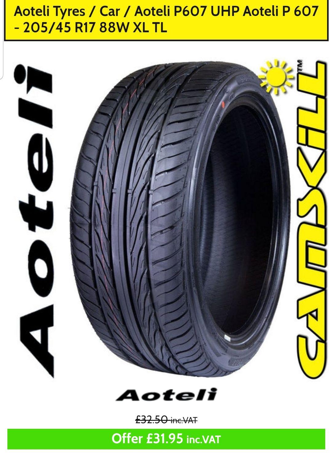 bdb31f5ffd7 Aoteli P607 Tyres - £31.95   CamSkill Performance