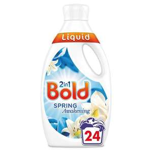 Bold 2in1 Washing Liquid Lotus Flower & Water Lily 24 Washes 840ml £3 @ Morrisons