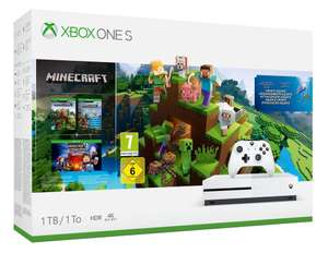 Xbox One S 1TB Minecraft Complete Collection + Gears of War 4 (Xbox One / PC Code) for £164.71 (£158 with Fee Free Card) @ Amazon Spain