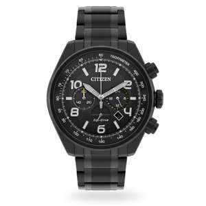 Citizen Exclusive Black Nighthawk Eco Drive Chrome Watch now £165 @ Goldsmiths