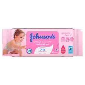 Johnson's Gentle All Over Baby Wipes - 33p a pack, Tesco in store (Hemel Hempstead)