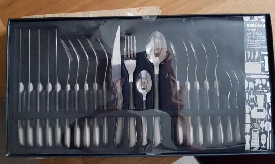 Sabichi roma 24 piece cutlery set now £7.50 in-store in Tesco Hamilton Estate Leicester