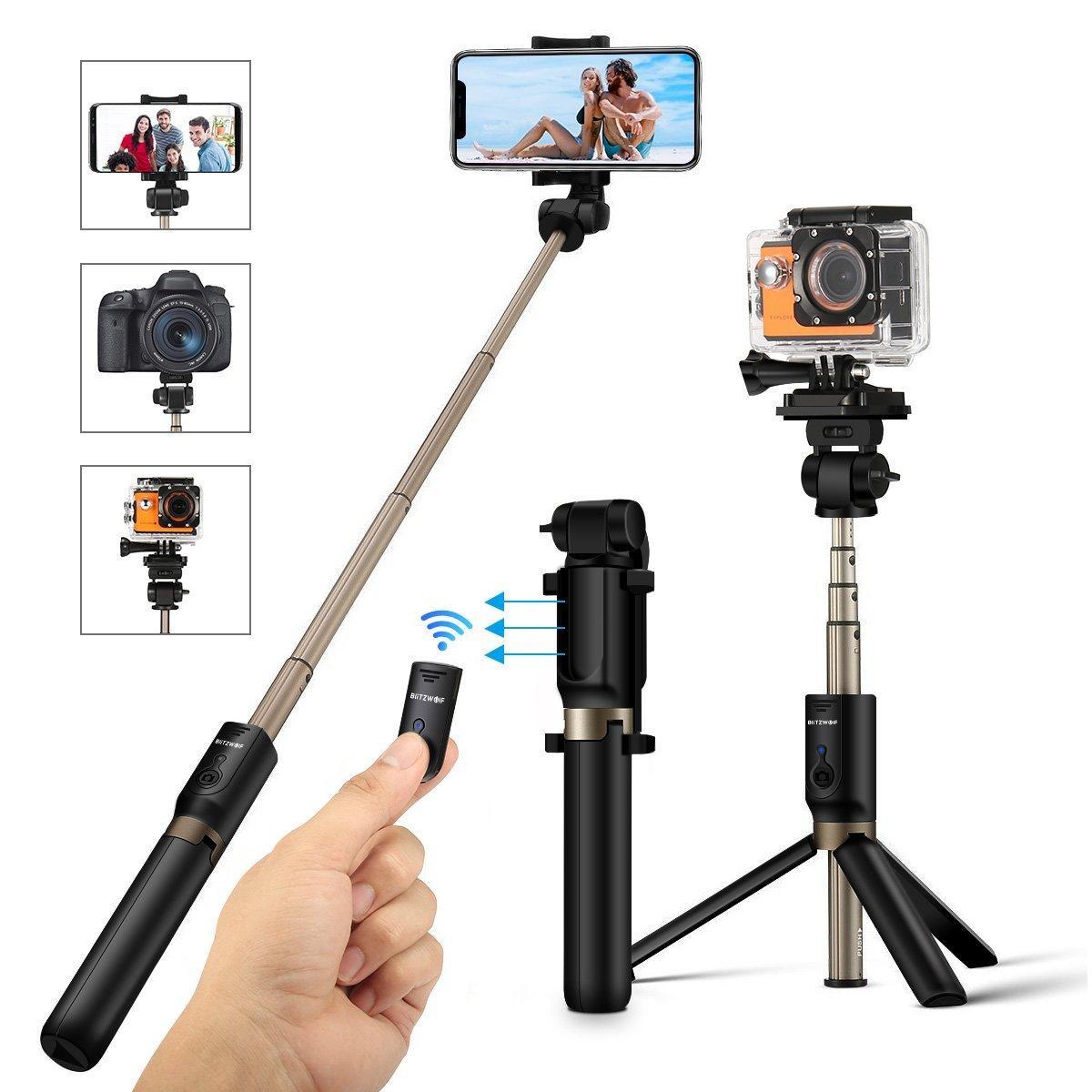 BlitzWolf BW-BS3 Versatile 3 in 1 Bluetooth Tripod Selfie Stick @ banggood £10.89