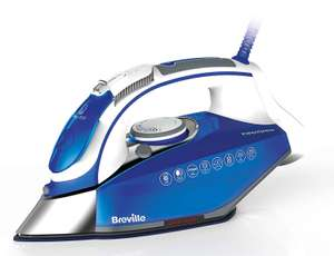 Breville PressXpress 3100W Steam Iron VIN340, Advanced Ceramic Soleplate rrp £69.99 now £30.99 delivered at Amazon