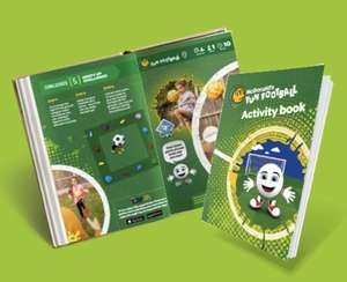 Free McDonalds fun football activity books & stickers