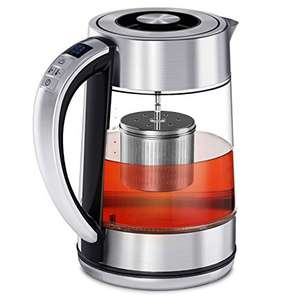 VonShef Tea Infuser Kettle Electric Glass Variable Temperature Control 2000W £22.39 with code on ebay / domu-uk