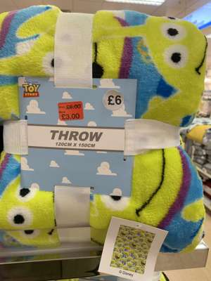 Harry Potter / Toy Story Fleece Throws £3 (was £6) in store @ Primark
