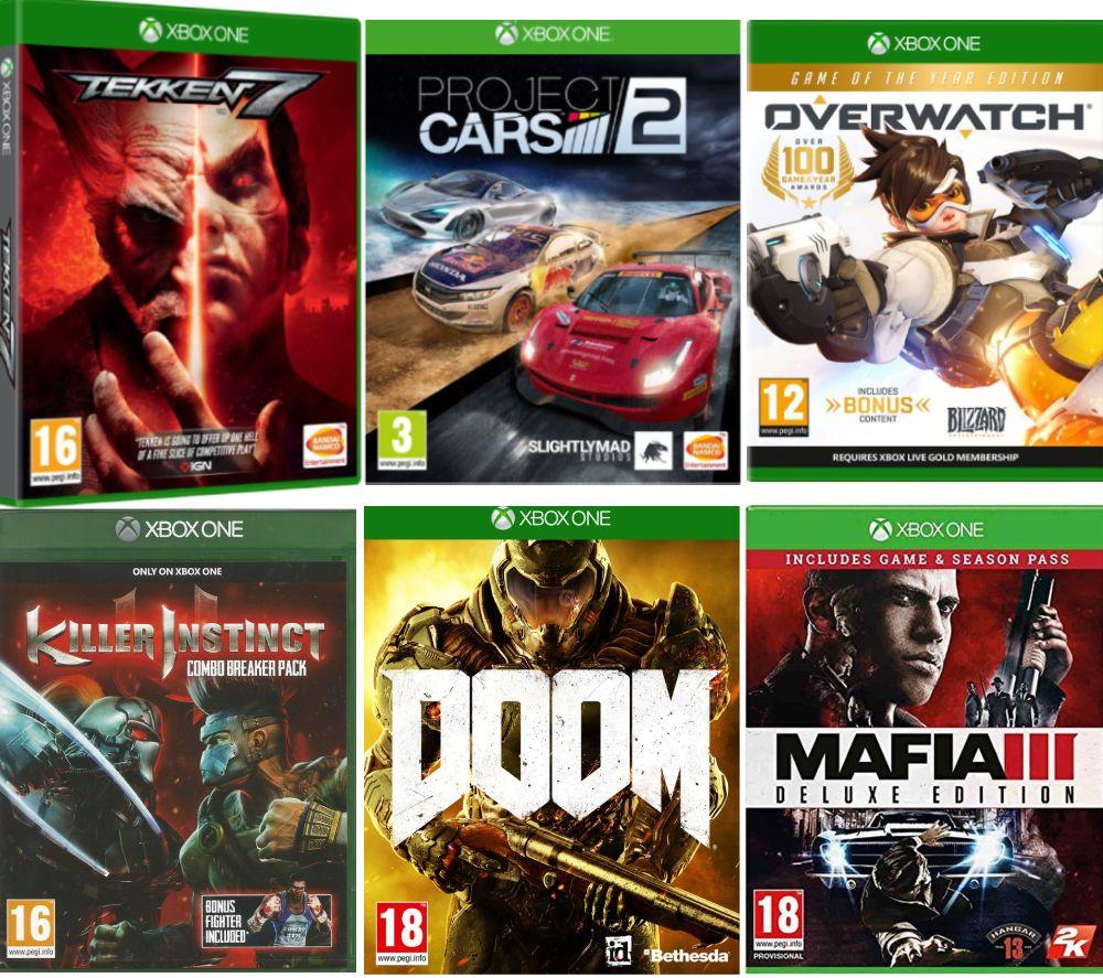 Overwatch, Mafia III, Project Cars 2, Killer Instinct, Doom & Tekken 7 Bundle £49.99 @ Currys PC World