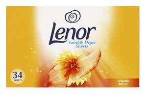 Lenor Summer Breeze Tumble Dryer Sheets 34pack for £1.99 @ Poundstretcher