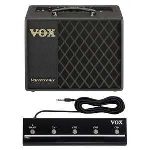 Vox VT20X Electric Guitar Amplifier Plus VFS-5 Foot Controller £149 delivered from RichTone Music