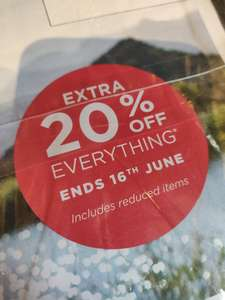 Extra 20% off everything online including reduced items @ Mountain Warehouse