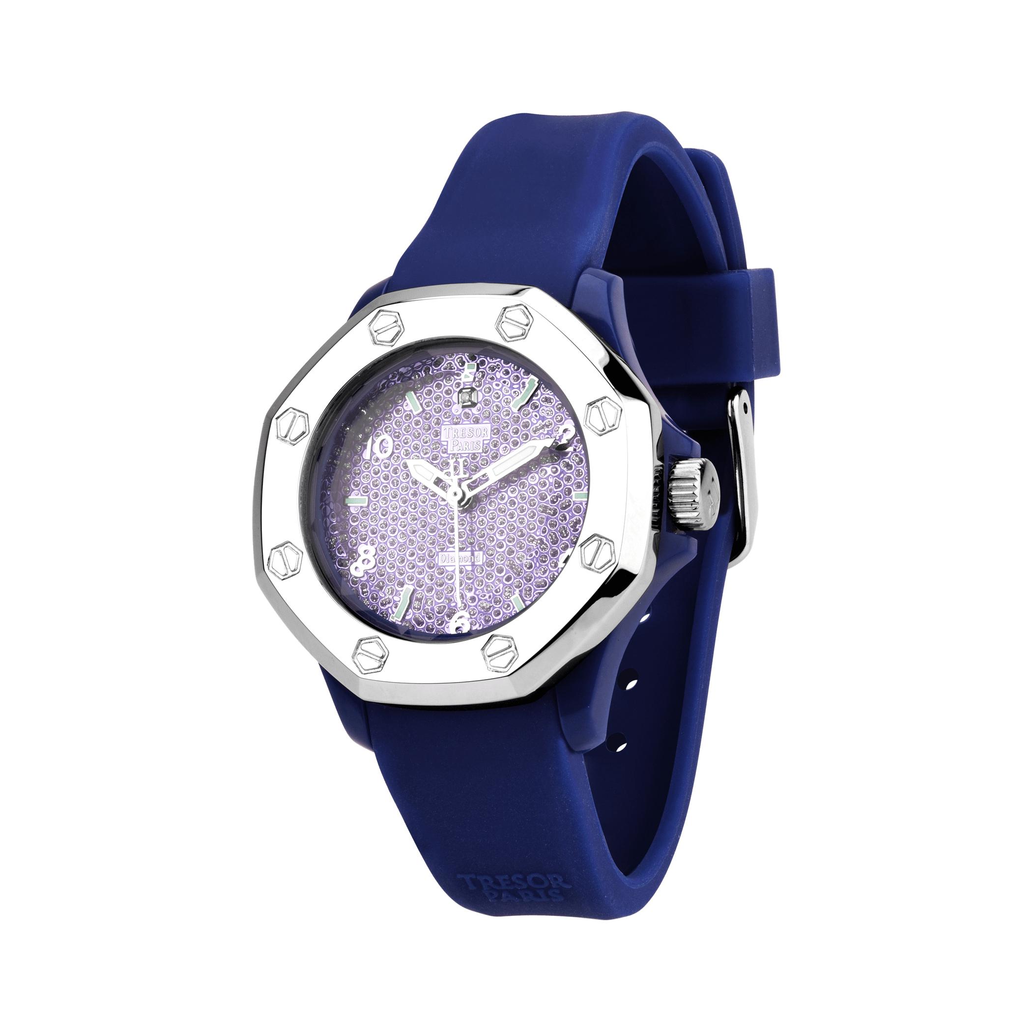 65% off Tresor Paris Diamond and Silicone Watch £34.65 @ Tresor Paris
