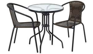 2 Seater Rattan Effect Garden Table and 2 Chair Set £40.00  free C&C @ Argos
