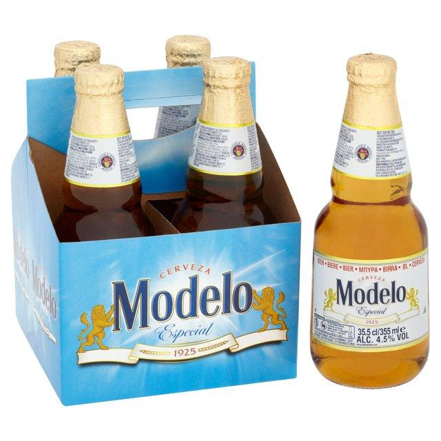 4 x packs Modelo lager 355ml bottles £2.99 @ Home Bargains (Mexican import beer)