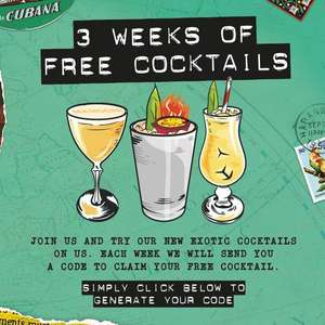 Free cocktail at Revolution de Cuba for email subscribers