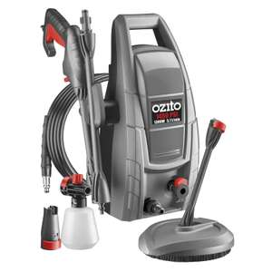 Ozito Full KIT 1300w 1450PSI Pressure Washer - £49 in Homebase + 3 years replacement warranty