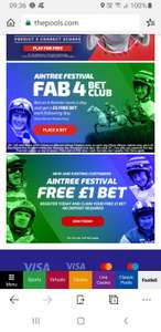 Free £1 bet on Grand National for new and existing customers at The Pools