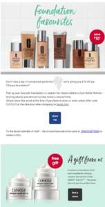 £10 off Each Individual Clinique Foundation At Boots using code