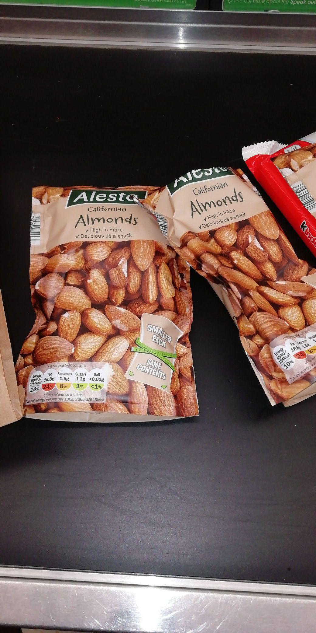 200g Almonds in Lidl £1.29 weekend offer