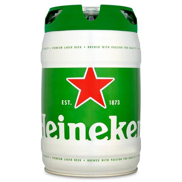 Heineken Keg (5L) Lager Beer - £10 Instore @ Morrisons