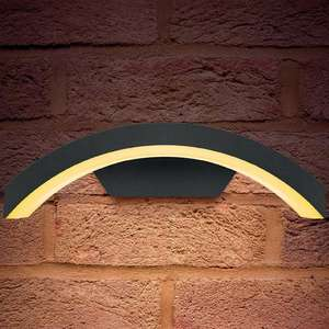 Integral Outdoor Curve LED Wall Light 7.5W 3000K (Warm White) IP54 - Dark Grey for £22.49 W/C Delivered @ Mymemory