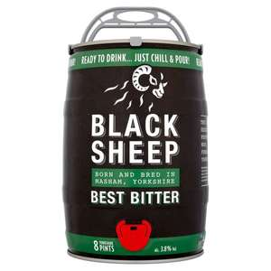 Black sheep bitter 5 litre Keg £8 at home bargains (£1 a pint) beer not lager