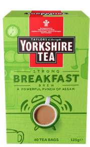 Yorkshire Tea - Breakfast Brew, Bedtime Brew, Biscuit Brew (40 bags) £1.50 at Asda