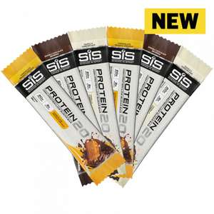 Science in Sport - 6 Free PROTEIN20 55g Bars (worth £14.99) when you sign up at SIS (£3.99 Delivery or Free over £10)