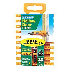 Plasplugs Hollow Door Fixings with Drill Bit - 20 pack. £1.49 @ Screwfix Free C&C