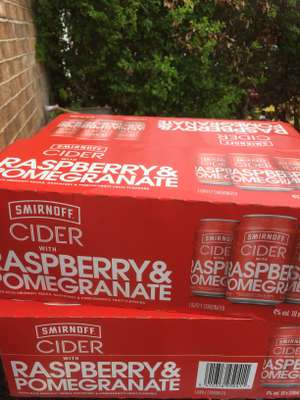 Smirnoff raspberry and pomegranate half price cider £4.50 instore @ Sainsbury's