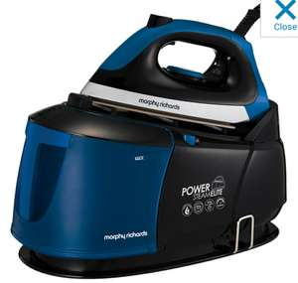Morphy Richards Power Steam Elite 332016 Pressurised Steam Generator Iron - Black / Blue £79 @ Ao