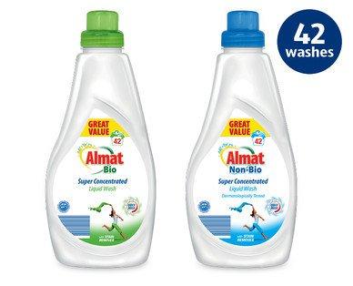 Almat Super Concentrated Liquid Wash (Non-Bio Or Bio), 42 Wash, 1.47L, £2.99 In Store @ Aldi