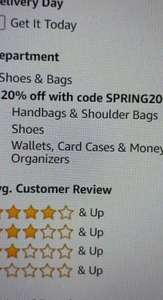 20% off Shoes and bags at Amazon