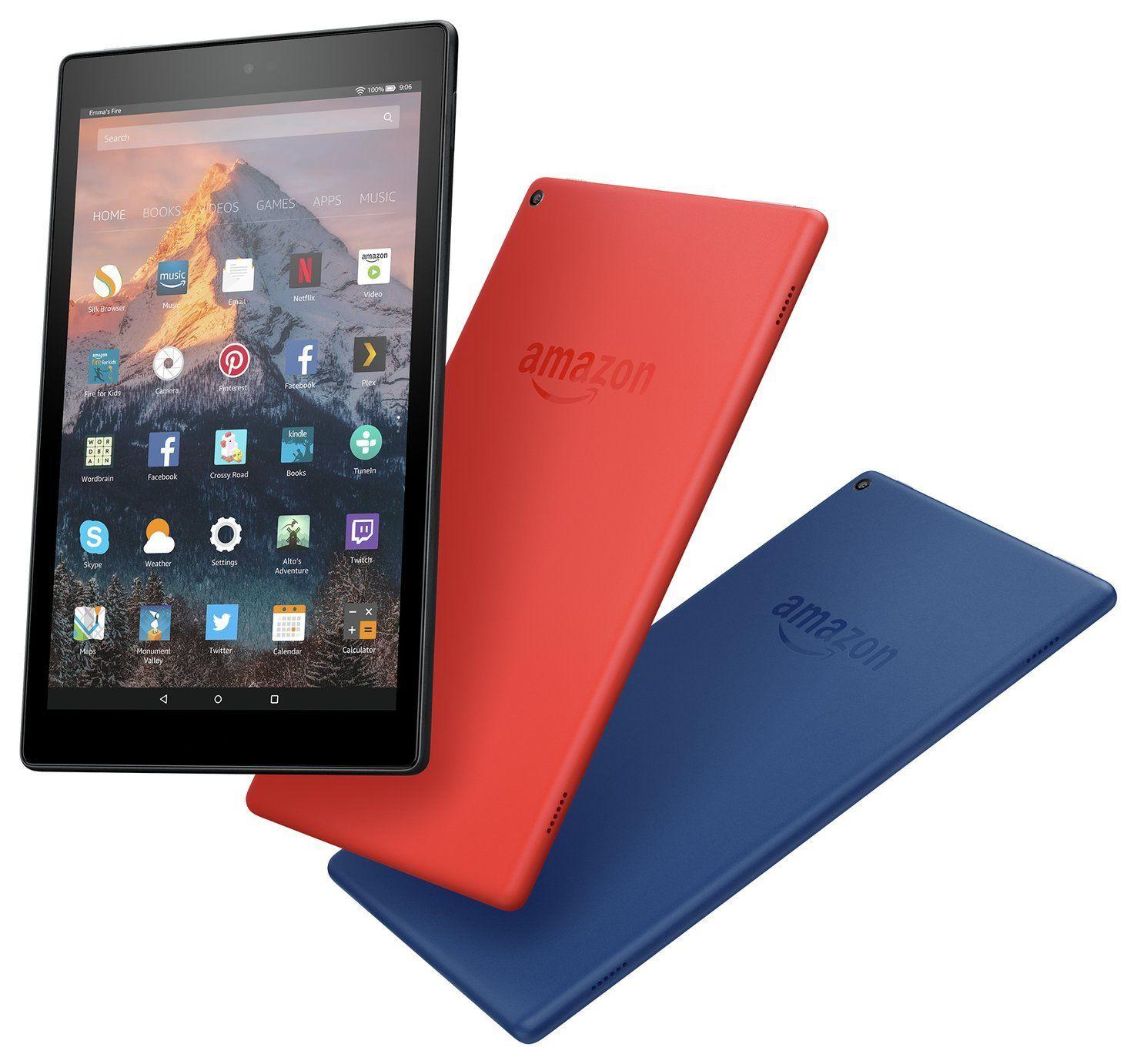 Amazon Fire HD 8 Alexa 8 Inch 16GB Tablet - (Black / Red / Blue) - £59.99 @ Argos (or Amazon Fire HD 10 10.1 Inch 32GB  £109.99)