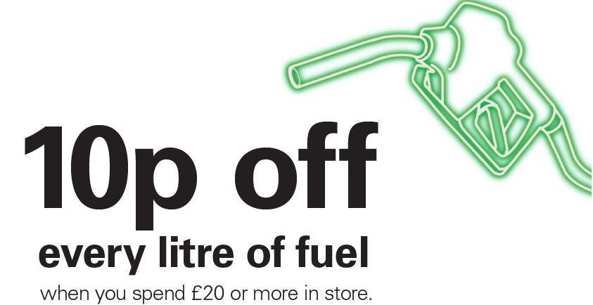10p off per litre when you spend £20 in store @ BP
