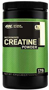 Optimum Nutrition Micronised Creatine Monohydrate - Unflavoured, 176 Servings, 634g - £12.60 (Prime) £17.09 (Non Prime) @  Amazon
