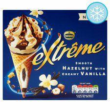 4 x Nestle Extreme Hazelnut With Smooth Vanilla Ice Cream Cones 120ml - £1 @ Heron Foods