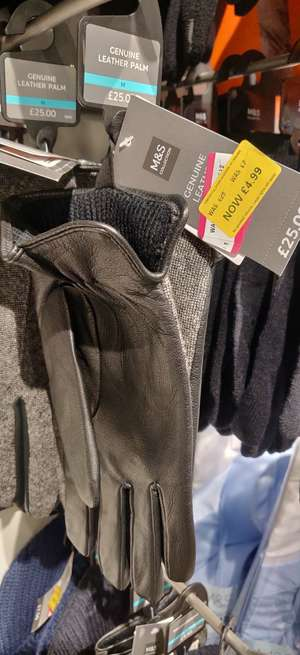 Men's gloves and hats sale e.g £25 gloves and hats down to £4.99 instore @ Marks & Spencer