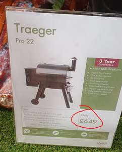 Traeger Pro 22 Wood Pellet Smoker BBQ Grill - Only £584.10 @ Squire's Garden Centres