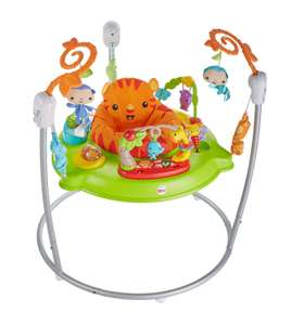 Fisher-Price Roaring Rainforest Jumperoo New-Born Baby Activity Centre with Music and Lights @ Amazon Warehouse Open Box Very Good £47.56