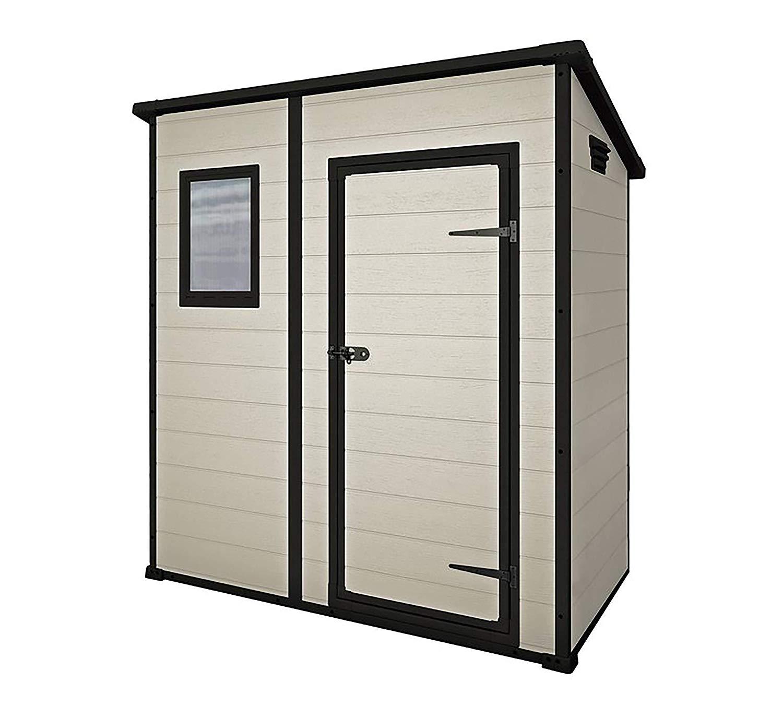 Keter Manor Pent Outdoor Plastic Garden Storage Shed, Beige/Brown, 6 x 4 ft - £195.29 @ Amazon